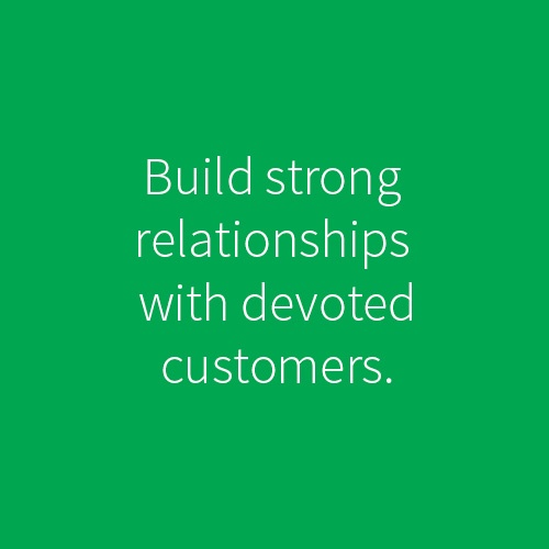 executing on  a good brand will help create devoted customers